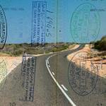 Passport over Australia scenic destination