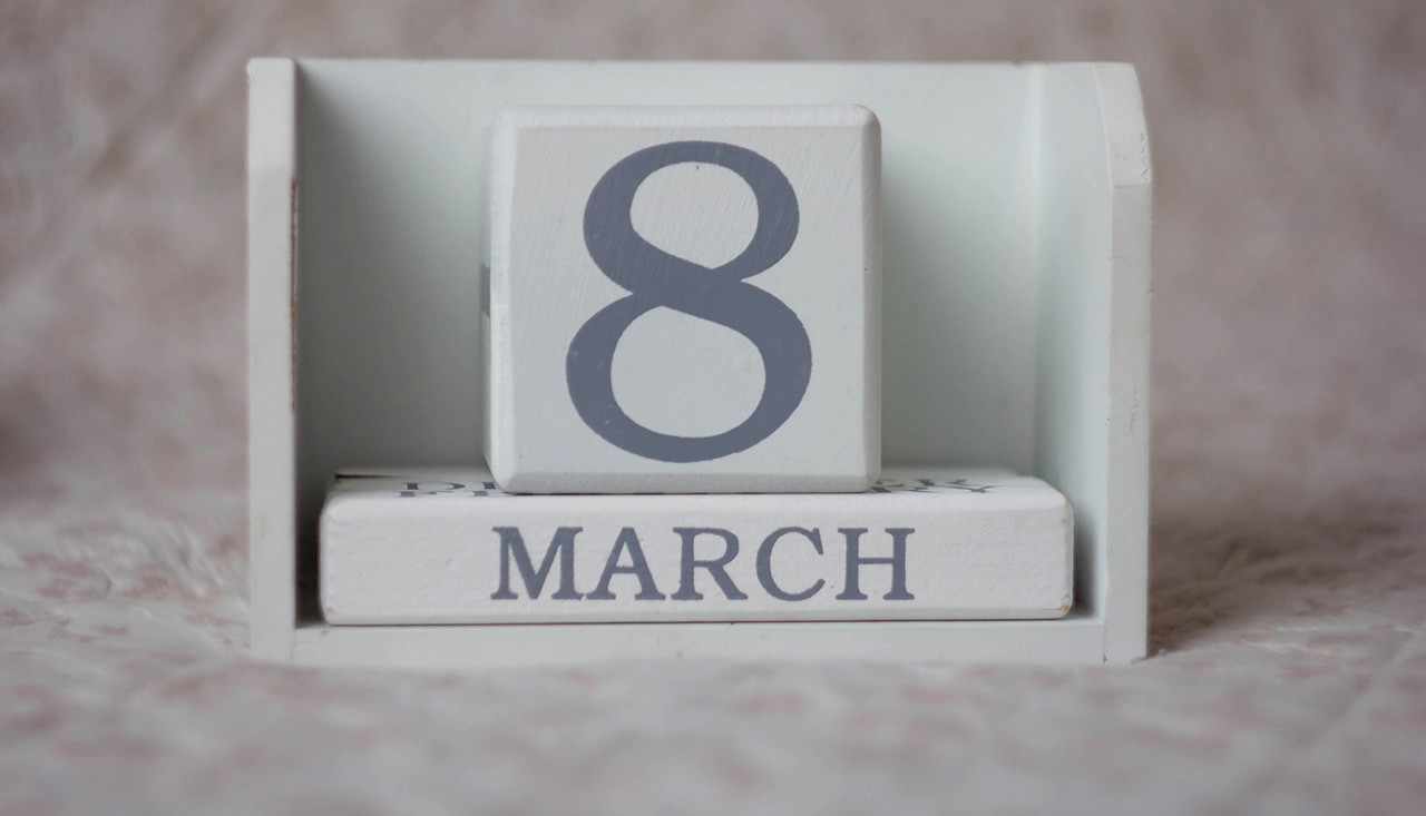 Calendar date of March 8th International Women's Day