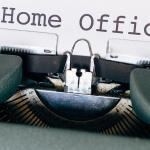 "Typewriter with words ""Home office"" being typed"
